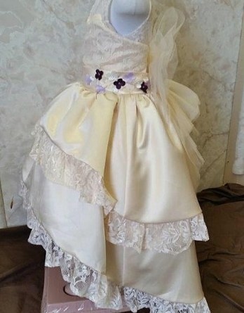 infant high low flower girl dress