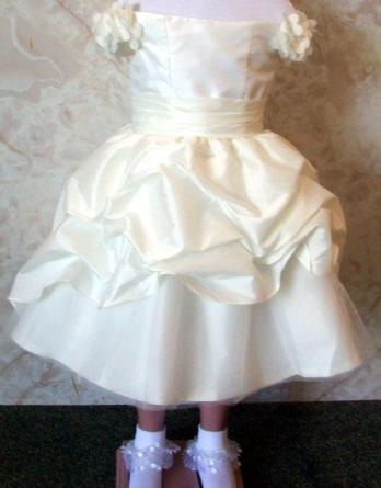 tea length pickup flower girl dress