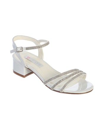 Rhinestone Strap with Block heel