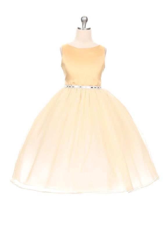 cheap gold girls dress