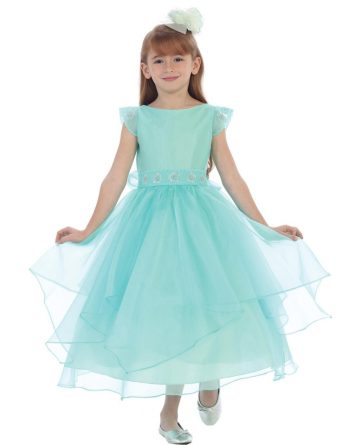 girls aqua easter dresses