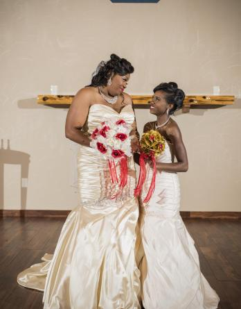 Matching mother daughter bridal dresses