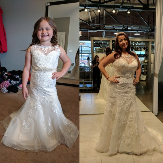 flower girl dresses to match the brides dress