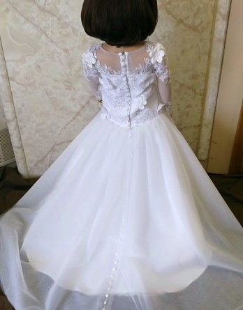 long sleeve flower girl dress