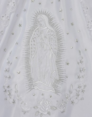 virgin mary embroidered dress
