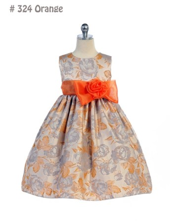orange spring easter dresses