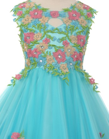 girls flower embroidered dress