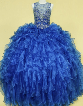 royal blue prom gowns