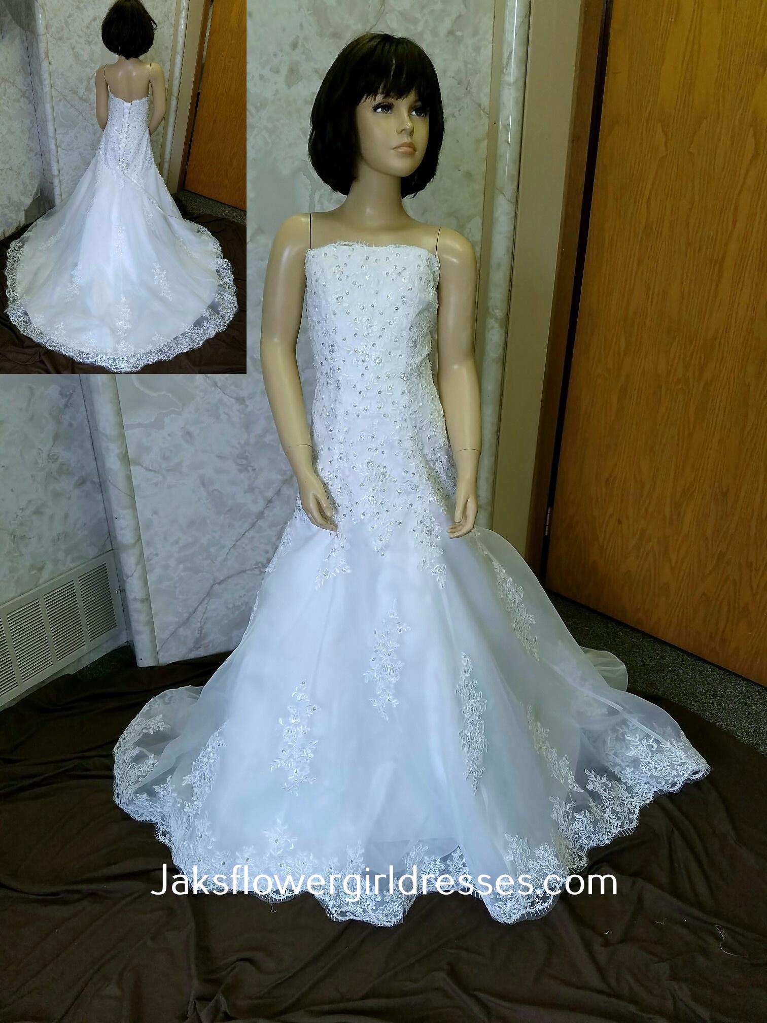 9ff5bdf0f28 Ivory Flower Girl Dresses Mermaid Style