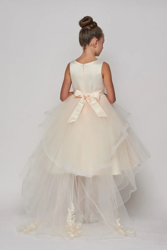 champagne flower girl dress $80