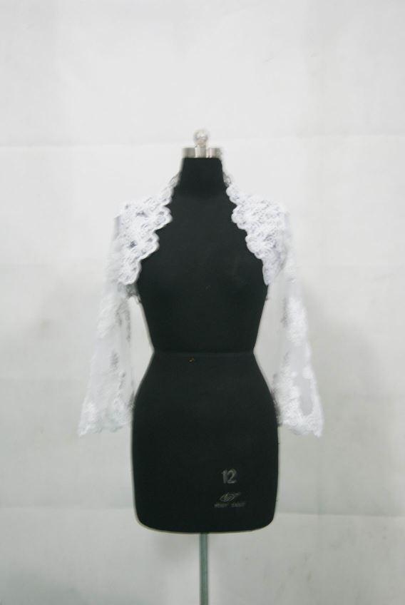 Short lace bolero jacket