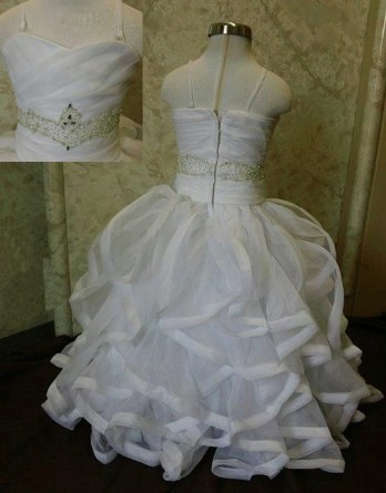 Clearance dresses |Gorgeous ruffle flower girl dress, irresistible.