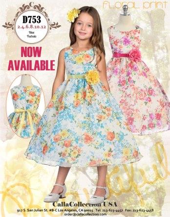 girls floral print dresses
