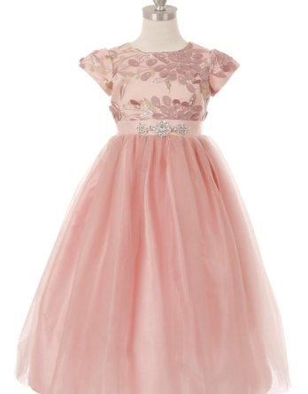 pink junior bridesmaid dress