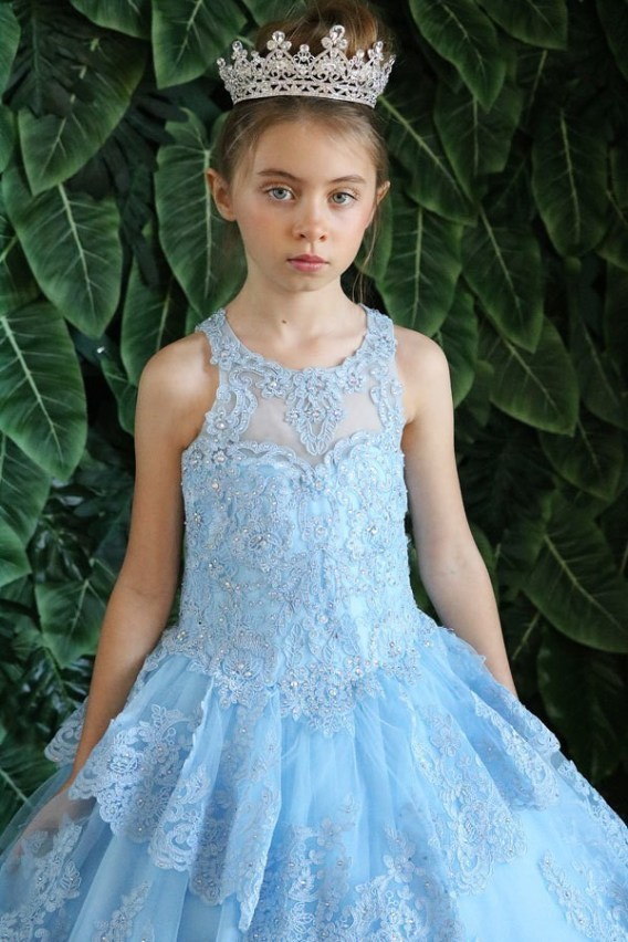 little blue pageant dress