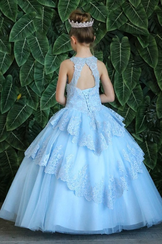 open back pageant dress