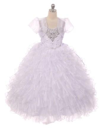 white little girls ball gown