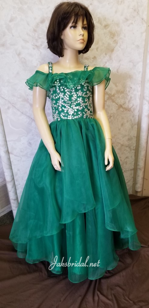 emerald green christmas dress