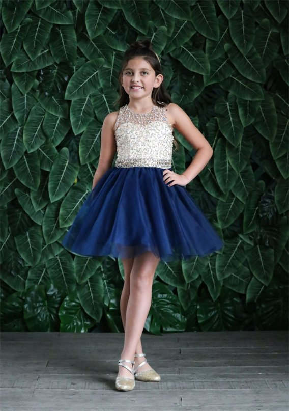 girls short pageant dress