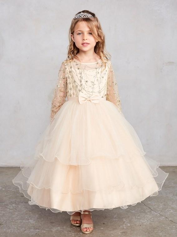 gold dress for girls