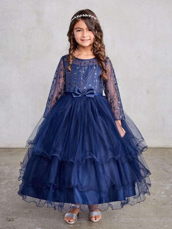 navy blue dress girls