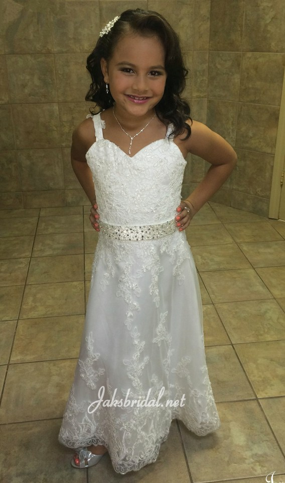 flower girl bridal gown