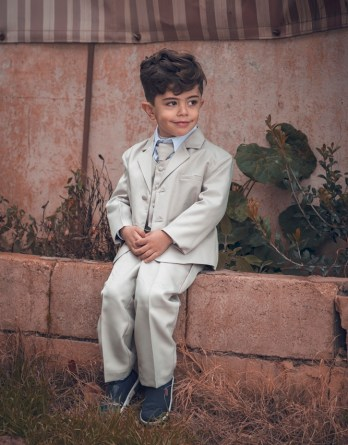 boys new sand colored suit