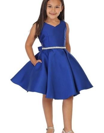 girls short navy blue dress
