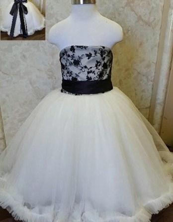 black and ivory flower girl dresses