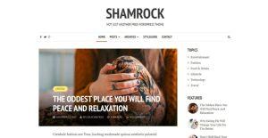 Szablon motyw wordpress na blog Shamrock