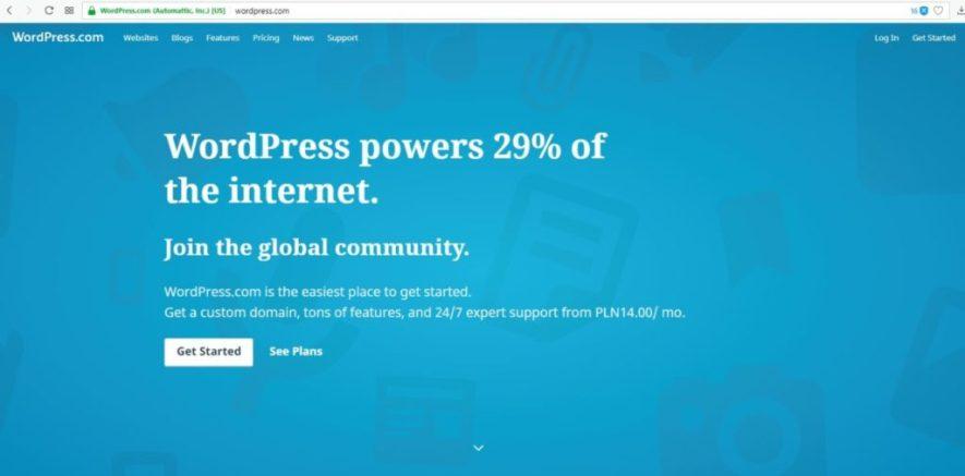 założenie bloga na wordpress.com