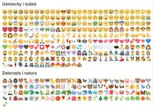 emoji czyli emotki na facebooku to promocja strony na fb