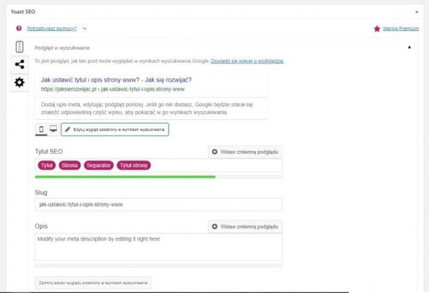 Jak ustawić tytuł i opis strony za pomocą wtyczki Yoast SEO w WordPressie
