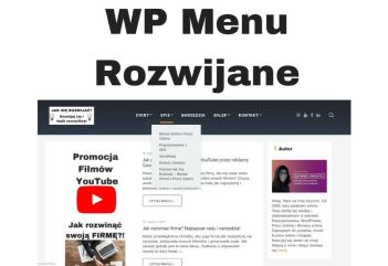 WordPress MENU rozwijane