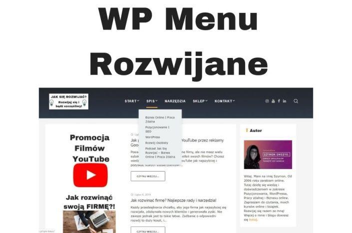 MENU Rozwijane WordPress - podmenu, submenu i kategorie