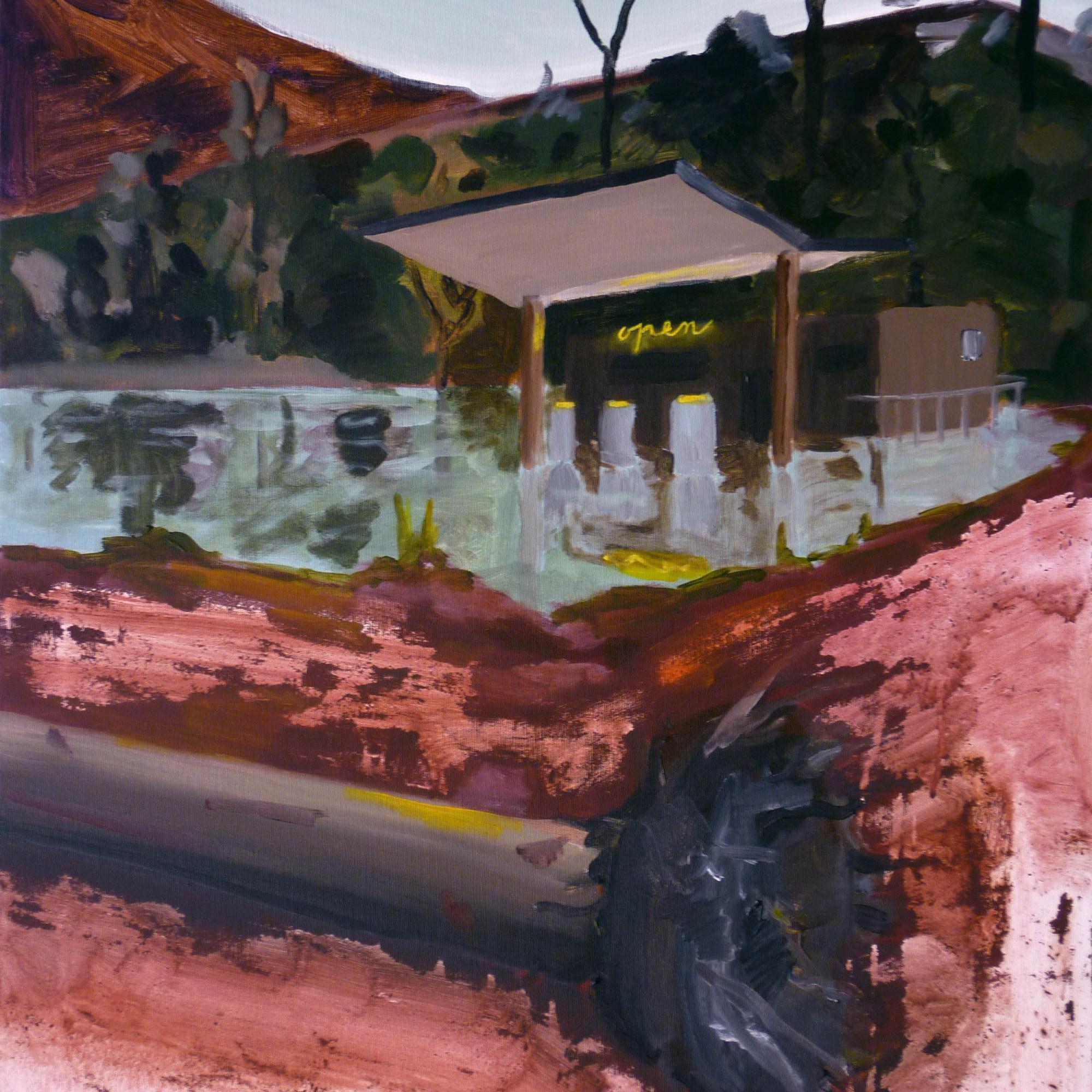 benzinka / gas station, 85x70 cm, akryl na plátně / acrylic on canvas, 2010