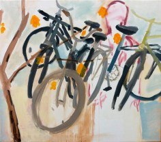 kola1 / bicycles1, 80x70 cm, akryl na plátně / acrylic on canvas, 2010