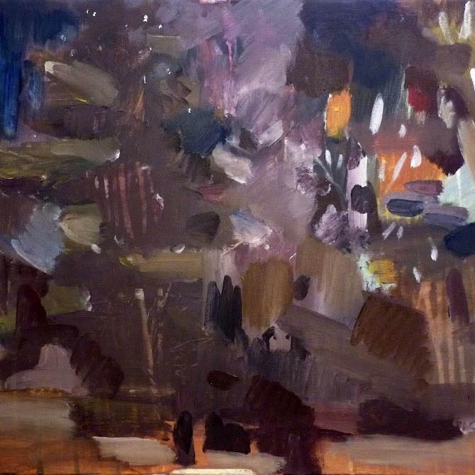 les / wood, 60x50 cm, akryl na plátně / acrylic on canvas, 2010