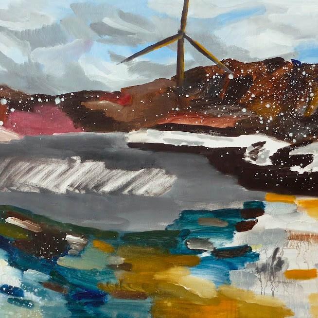 větrný mlýn 2 / wind mill 2, 90x75 cm, akryl na plátně / acrylic on canvas, 2010