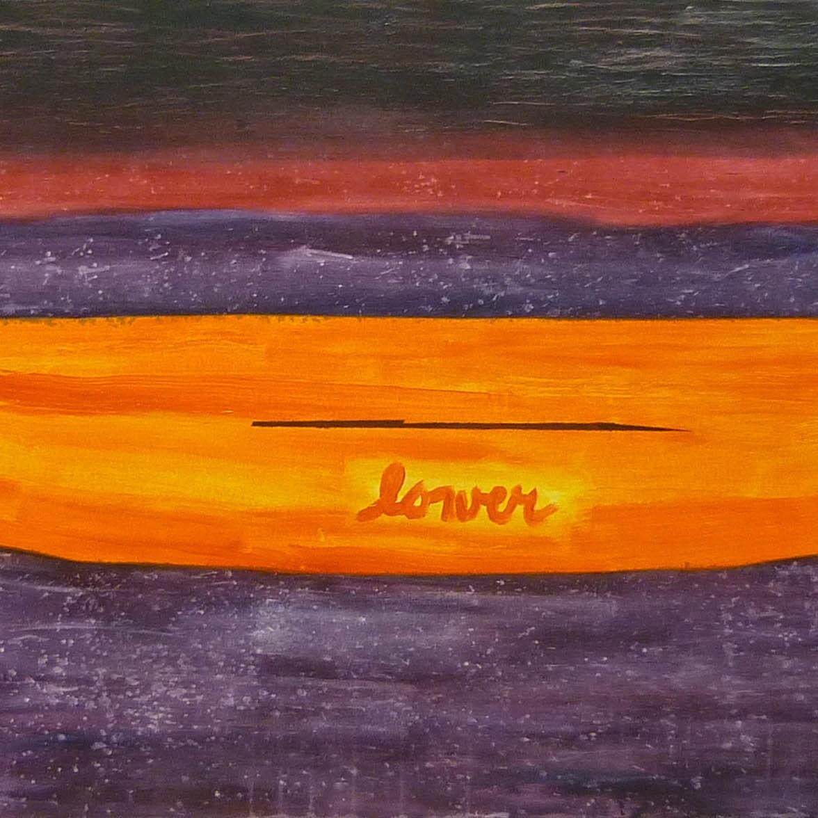 kánoj 2 / canoe 2, akryl na plátně / acrylic on canvas, 190x90 cm, 2012