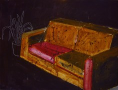 červený gauč / couch in red, 60x45 cm, akryl na plátně / acrylic on canvas, 2014