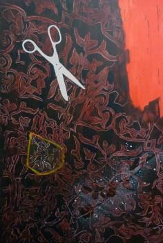 paní Maigretová / Mrs Maigret, 135x90 cm, akryl na plátně / acrylic on canvas, 2014