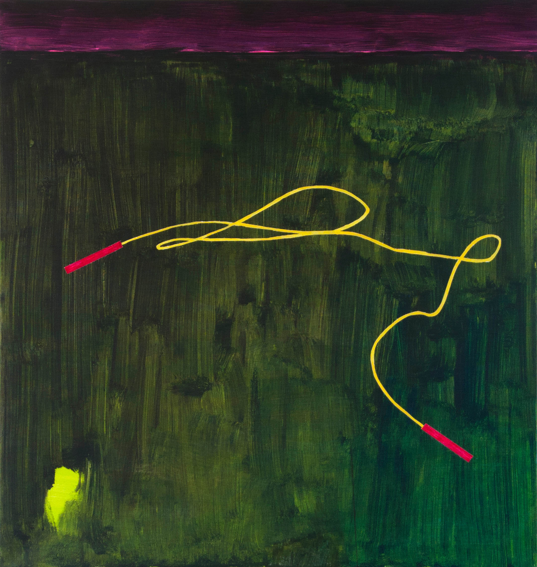 švihadlo – malé / jumping rope small, 95x100 cm, akryl na plátně / acrylic on canvas, 2015