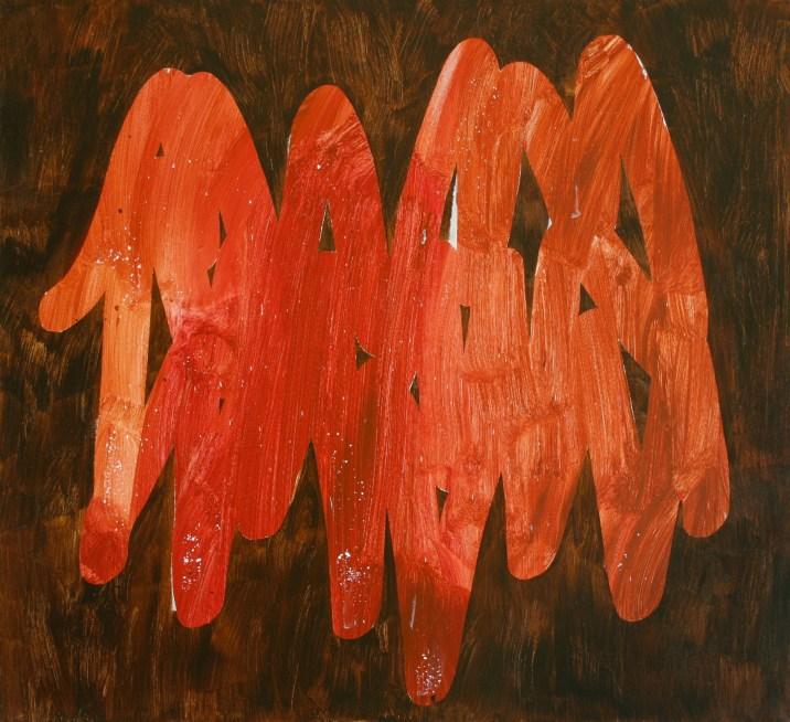 lesní tagy / forest tags, 110x100cm, akryl na plátně / acrylic on canvas, 2016