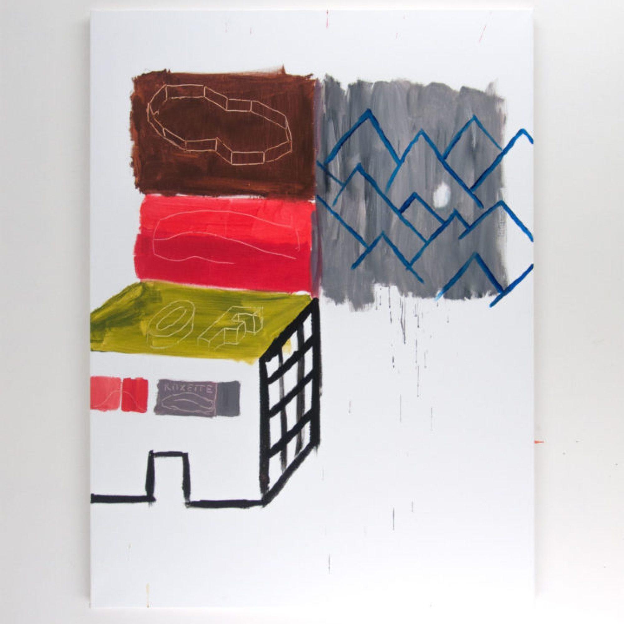 kazeta na hory / tape for mountain vacation, 115x155, akryl na plátně / acrylic on canvas, 2017