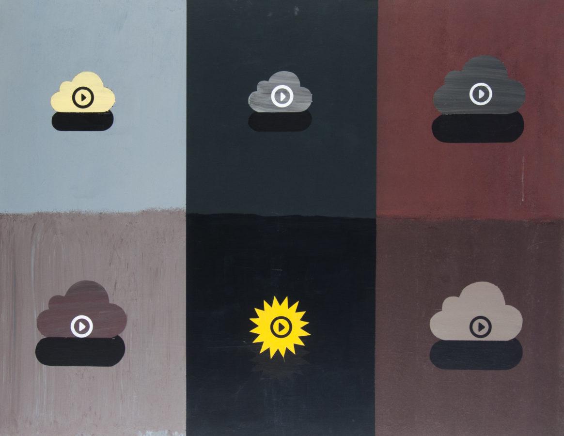 videometeo, 135x105 cm, akryl na plátně / acrylic on canvas, 2019