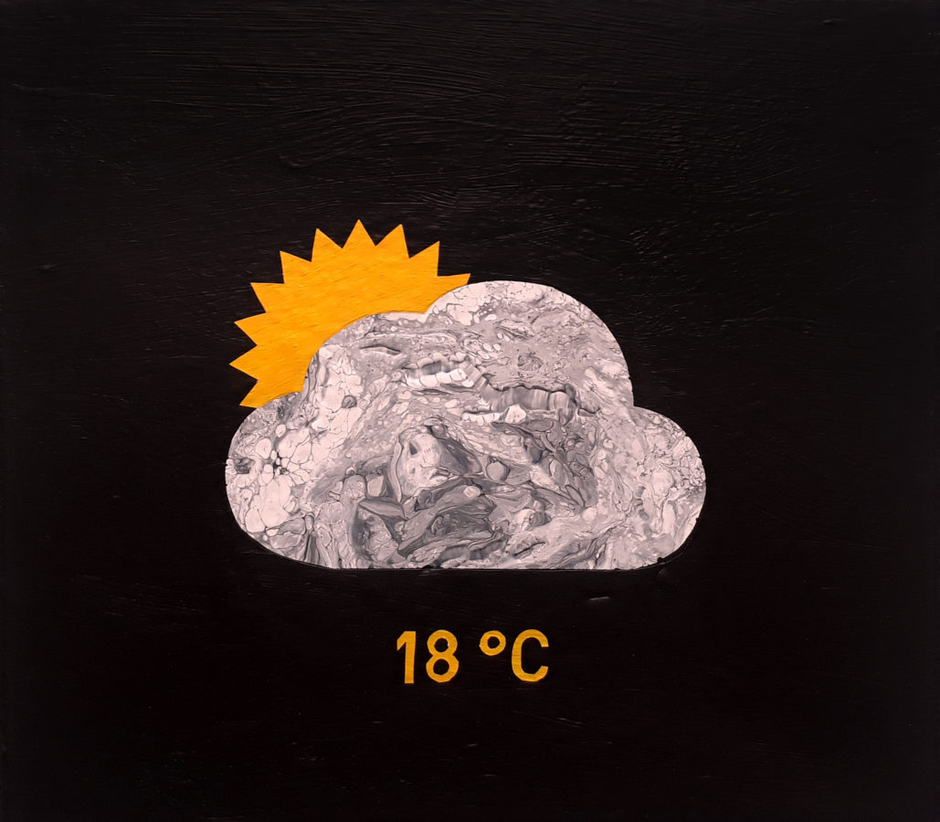 weather2.ico, 40x35 cm, akryl na plátně / acrylic on canvas, 2019