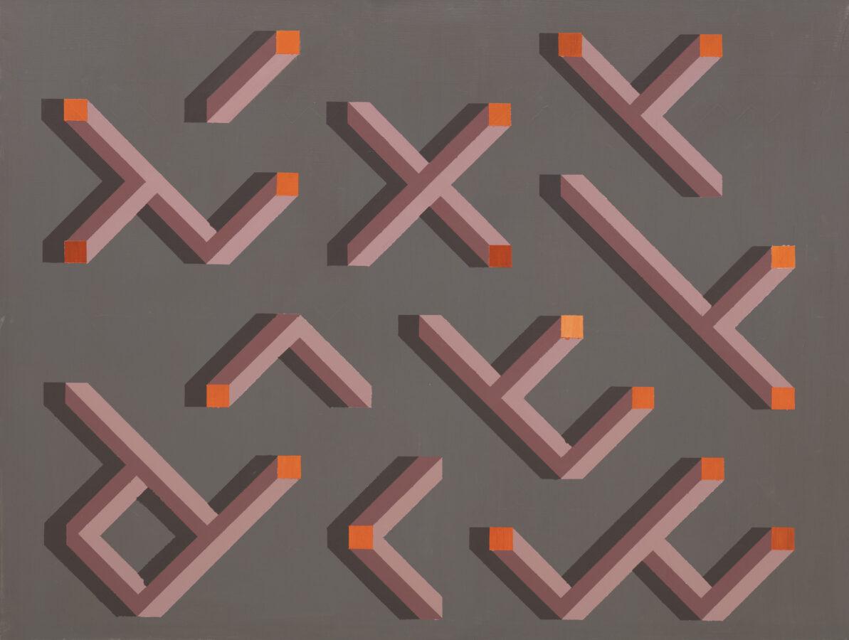 inbusové války / hex wars, 105x80 cm, akryl na plátně / acrylic on canvas, 2020