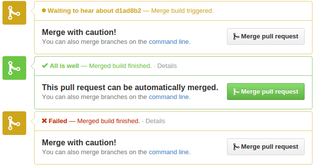 GitHub and Jenkins pull request checking