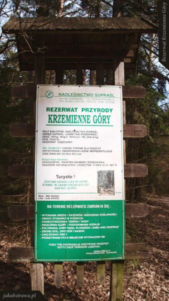 Tablica informacyjna | Rezerwat Krzemienne Góry